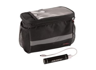 Huffy Smartphone Handlebar Bag with Cooler and Power Pack
