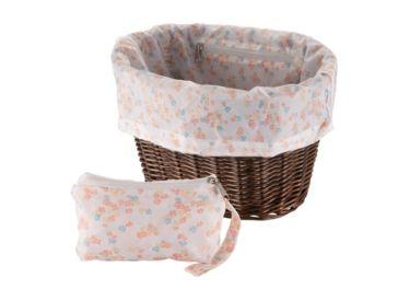 Huffy Universal Basket Liner and Bag, Floral