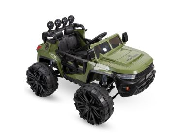 Electric Ride On Car Suspension MP3, Military Green 12V