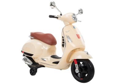 Vespa Kid Electric Ride-On Scooter Beige, 6V