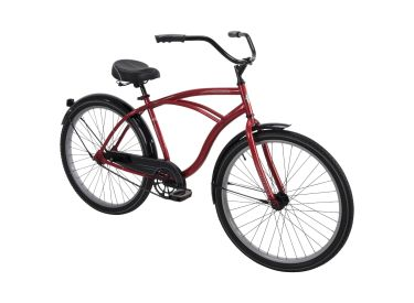 Good Vibrations™ Men's Cruiser Bike, Red, 26-inch