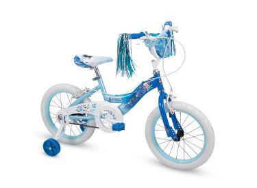 Disney Frozen Girls' Bike, Basket, Blue, 16-inch