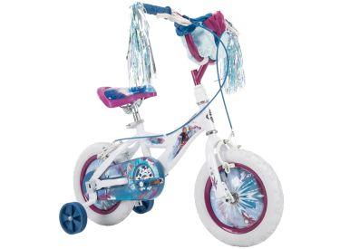 Disney Frozen 2 Kid Bike, Training Wheels, Streamers & Basket Included, 12 inch, White