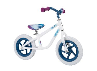 Disney Frozen 2 Balance Bike for Toddler & Kids, Elsa Graphics, 12 inch, Purple