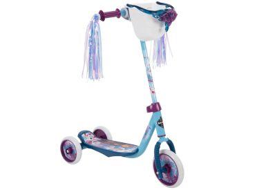 Disney Frozen 2 Preschool Scooter, Elsa & Anna Graphics, Handlebar Bin, Three Wheels & Streamers