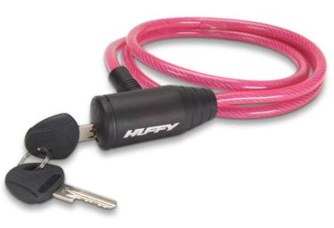 Huffy Translucent Cable Key Lock, Pink