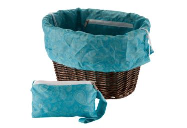 Huffy Universal Basket Liner and Bag, Paisley