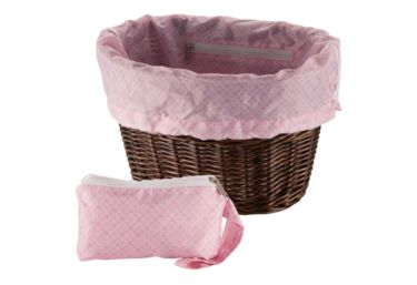 Huffy Universal Basket Liner and Bag, Geometric Squares