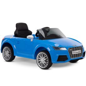 Audi TT S Roadster Battery Ride-On Car for Kids, Blue, 12V
