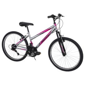 Incline™ Women's Mountain Bike, Gray and Pink, 24-inch