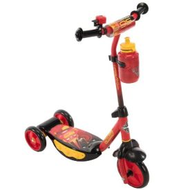 Disney·Pixar Cars 3 Boys' Preschool Toddler Scooter, Lights, Red