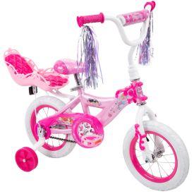 Disney Princess Girls' Bike, EZ Build™, Pink, 12-inch