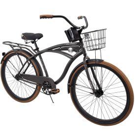 Nel Lusso™ Men's Cruiser Bike, Charcoal Black, 26-inch