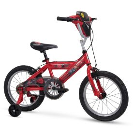 """Disney Cars Kid Bike Quick Connect Assembly, Handlebar Plaque w/ Sounds & Training Wheels, 16"""" Red"""
