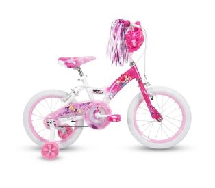 Disney Princess Girls' Bike, Basket, Pink, 16-inch