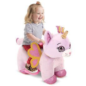 Rainbow Unicorn Kitten Plush Toddler Electric Ride-On Toy, 6V