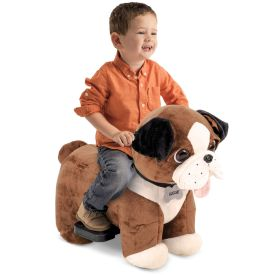 Auggie Plush Toddler Electric Ride-On Toy Dog, 6V