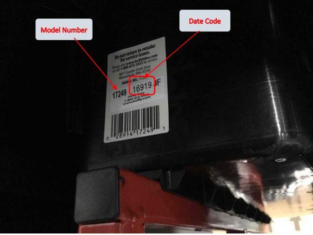 Torex UTV model number and date code location
